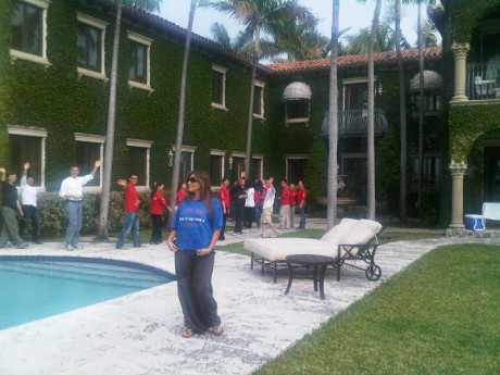 Here they are getting a tour of our estate Casa De Suenos with my beautiful wife Loren Ridinger.