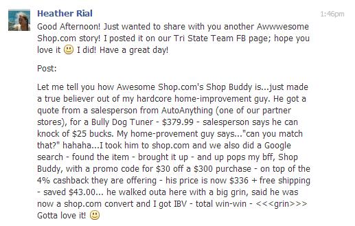 heather rial shop buddy testimonial