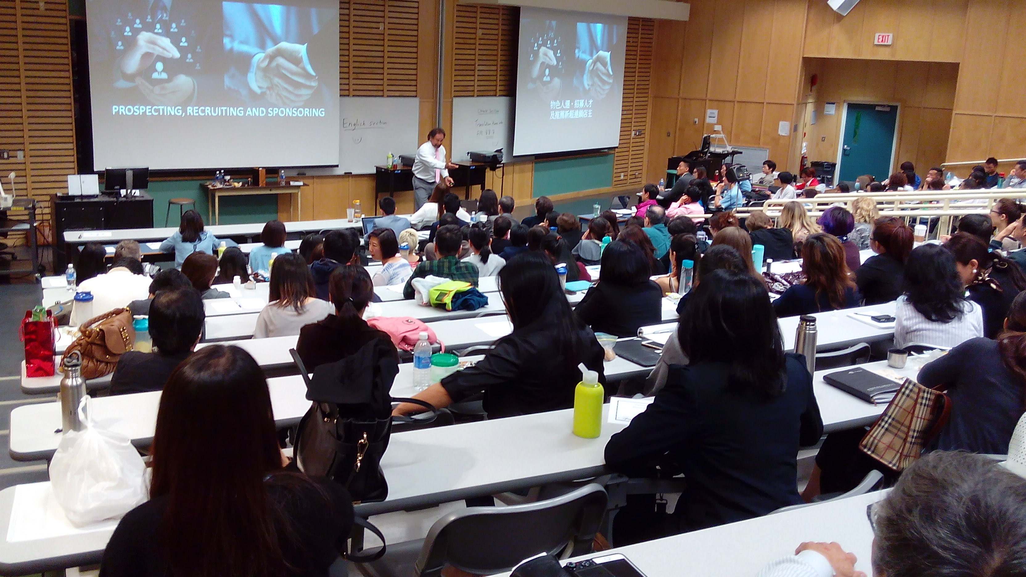 Chinese slides and simul interpretation were done by UFO Volunteers for the Business Building Seminar